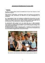 Jahresbericht Stadtbücherei Frechen 2007 - Stadt Frechen