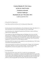 Rede von Gabriele Nußberger, Vorsitzende der ... - Stadt Frechen