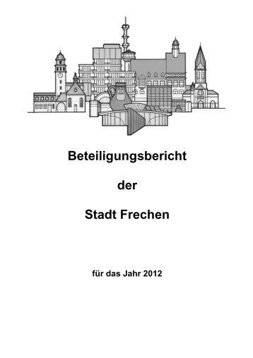 Beteiligungsbericht 2012 - Stadt Frechen