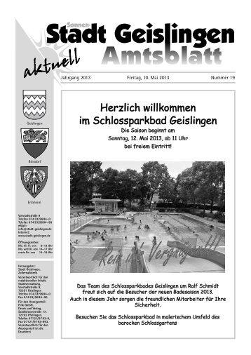 Amtsblatt Geislingen KW19 - Stadt Geislingen