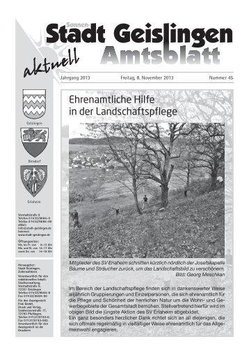 Amtsblatt Geislingen KW45 - Stadt Geislingen