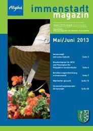 Ausgabe Mai / Jun - Stadt Immenstadt