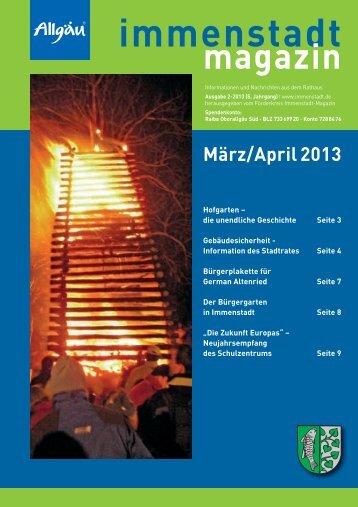 Ausgabe März / Apr. - Stadt Immenstadt