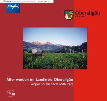 """Broschüre """"Älter werden im Landkreis Oberallgäu"""" - Stadt Immenstadt"""