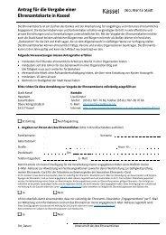 Antrag Ehrenamtskarte - Kassel