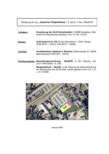 Erweiterung der ALDI-Verkaufsstelle i - Kastellaun