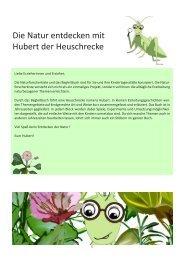 Die Natur entdecken mit Hubert der Heuschrecke - Begleitband
