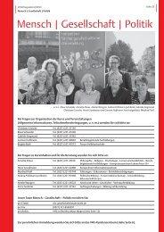 VHS-Programm 2-2013: Mensch-Gesellschaft-Politik - Stadt Köln