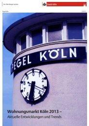 Pegel Köln 3/2013 - Wohnungsmarkt Köln - Aktuelle ... - Stadt Köln