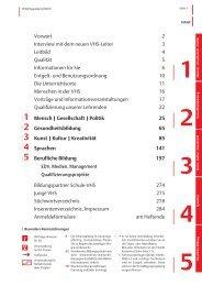 VHS-Programm 2-2013: Einleitung - Stadt Köln