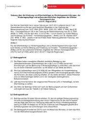 Satzung Elternbeiträge Kindertageseinrichtungen, 1 ... - Stadt Köln