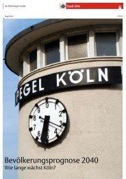 Bevölkerungsprognose 2040 - Wie lange wächst Köln? - Stadt Köln