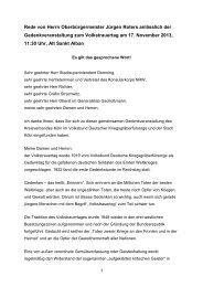 Gedenkveranstaltung zum Volkstrauertag, 17 ... - Stadt Köln