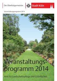 Veranstaltungsprogramm 2014 Amt für ... - Stadt Köln