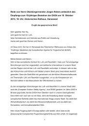 Empfang zum 10-jährigen Bestehen der EASA, 18 ... - Stadt Köln