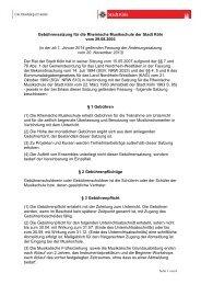 Gebührensatzung für die Rheinische Musikschule, 1 ... - Stadt Köln