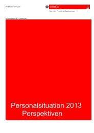 Personalsituation 2013 - Perspektiven - Stadt Köln