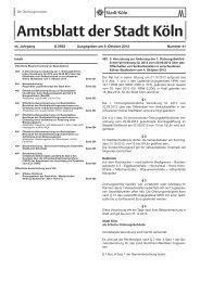 Amtsblatt 41, 9. Oktober 2013 - Stadt Köln