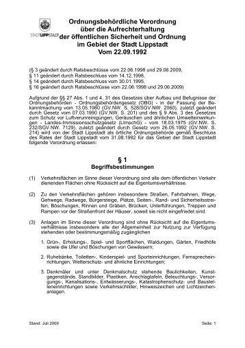 Öffentliche Sicherheit und Ordnung ... - Lippstadt