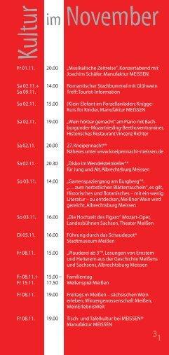 Veranstaltungen November - Stadt Meißen