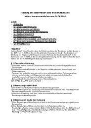 Satzung der Stadt Meißen über die Benutzung von ...