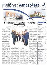 Amtsblatt Nr. 01 vom 24. Januar 2014 - Stadt Meißen