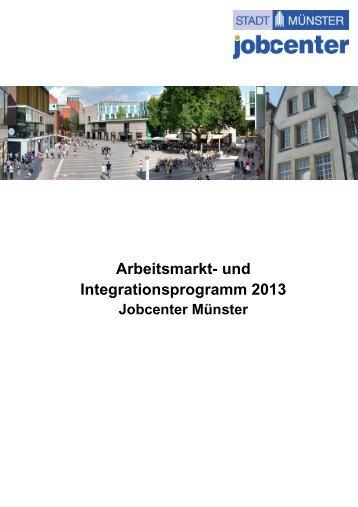 Arbeitsmarktprogramm 2013 - zur Homepage der Stadt Münster