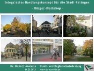 Präsentation zum 2. Workshop am 16.01.2013 - Stadt Ratingen