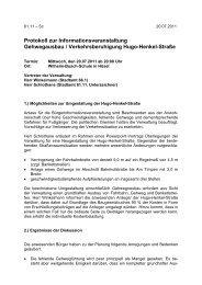 Protokoll zur Informationsveranstaltung ... - Stadt Ratingen