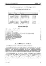 Hundesteuersatzung der Stadt Ratingen