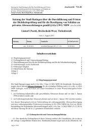 Gemeindeordnung für das Land Nordrhein ... - Stadt Ratingen