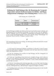 Ordnung der Stadt Ratingen über die Benutzung des ...