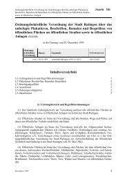 Ordnungsbehördliche Verordnung der Stadt Ratingen über das ...