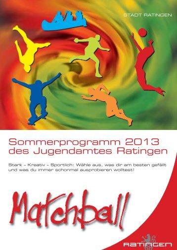 Der Matchball 2013 - Stadt Ratingen