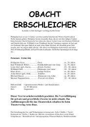 """""""Obacht Erbschleicher"""" herunterladen. - Theaterverlag Arno Boas"""