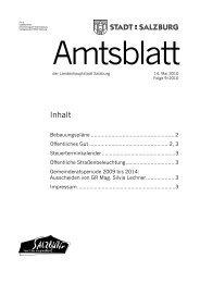Amtsblatt 9/2010 (PDF, 321 kB) - Stadt Salzburg