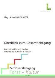 Forst und Kultur Lehrgangsprogramm - Stadt Salzburg