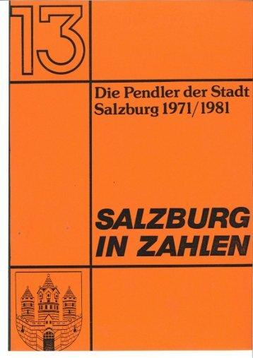 Die Pendler der Stadt Salzburg 1971/1981