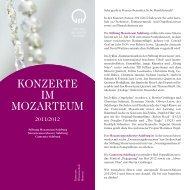Konzerte iM MozarteuM - Stadt Salzburg