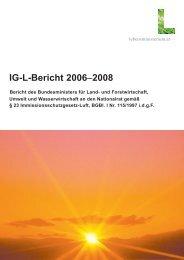 IG-L-Bericht 2006 2008 b - Lebensministerium