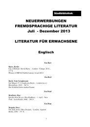 Fremdsprachige Literatur für Erwachsene und Kinder - Stadt Salzburg