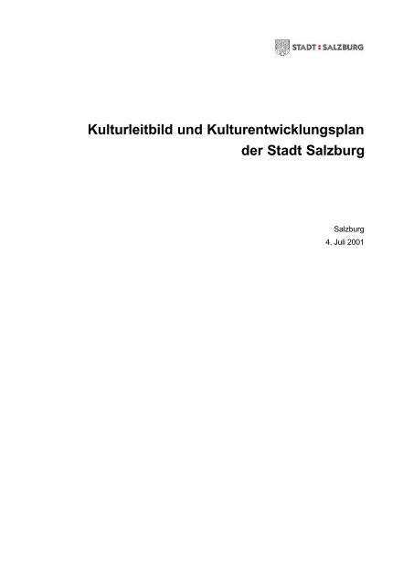Kulturleitbild 2001 - Stadt Salzburg