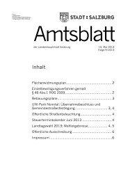 Amtsblatt 9/2013 (PDF, 360 kB) - Stadt Salzburg