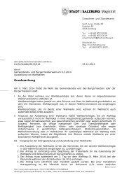 Kundmachung Ausstellung Wahlkarten 2014 ... - Stadt Salzburg