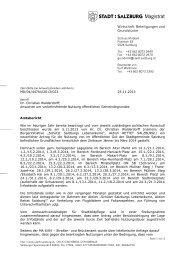 MD/04/44764/2013/023 Amtsbericht Dr. Christian ... - Stadt Salzburg