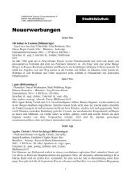 Neuerwerbungen - Stadt Salzburg