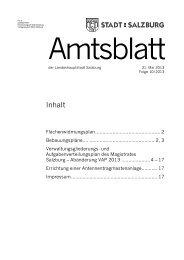 Amtsblatt 10/2013 (PDF, 433 kB) - Stadt Salzburg