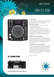 DN-S1200 Compact CD/USB Media Player & controller Brochure