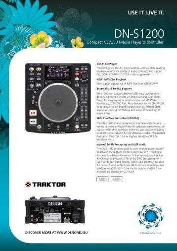 DN-S1200 Compact CD/USB Media Player & controller Brochure