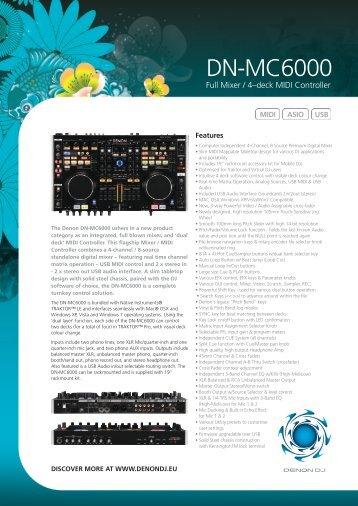 Full Mixer / 4–deck MIDI Controller